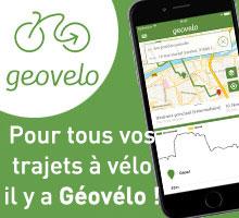Téléchargez Géovélo, l'application dédiée aux vélos qui permet de trouver les meilleurs itinéraires cyclistes sur le territoire de la Métropole