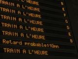 Panneau d'affichage en gare