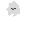 Partie nord de la carte la Métropole de Lyon