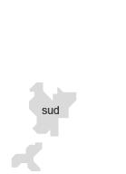 Partie sud de la carte la Métropole de Lyon